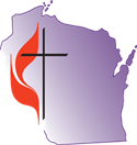 Cross and flame - Wisconsin Conference UMC