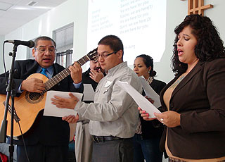 Ethnic singers at a Wisconsin Conference UMC event